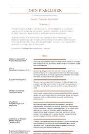 Training Specialist Resume samples