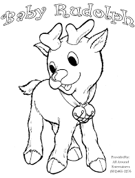 Coloring Pages Christmas Rudolph Color Bros