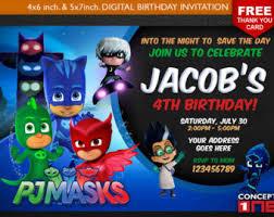 Pj Mask Party Decoration Ideas Pj Masks Invitation Chalkboard Pj Masks Birthday Pj Masks 55