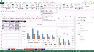 highline excel 2016 class 45 combining chart types and secondary axis in excel 2016 you