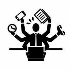仕事が忙しい男性シルエット イラストの無料ダウンロードサイト
