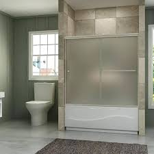 bath shower doors sunny shower semi bypass frosted glass bath tub shower door brushed nickel bath