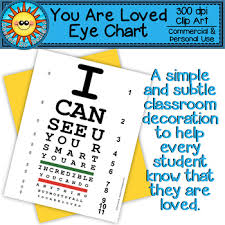 Eye Chart Poster You Are Loved Eye Chart Poster Classroom Decoration Freebie