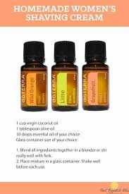doterra homemade women s shaving cream recipe