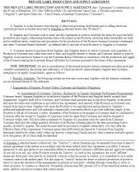 Manufacturing Agreement Template Free. Contract Manufacturing ...