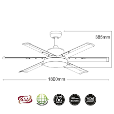 albatross ceiling fan dimensions