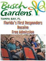 busch gardens florida s first responders get free admission