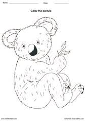 koala coloring art activities and pictures for kids on evaluating logarithms worksheet