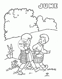 june summer coloring page for kids seasons coloring pages
