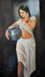 wet art from india