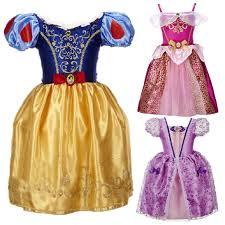 Summer <b>Girls Dress Princess Cinderella</b> Snow White <b>Dresses</b> For ...