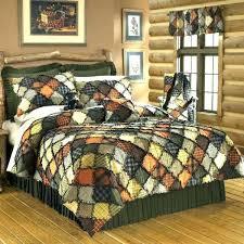 cabin quilts bedding sets quilt log sharp woodland full queen fine