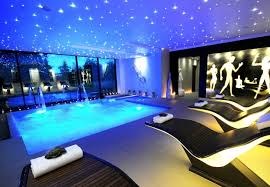 gym lighting design. glamorous swimming pool with stylish fountain combined comfy lounge chairs under recessed ceiling lighting featuring gym wall picture ideas design