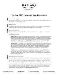 The New Gre Frequently Asked Questions