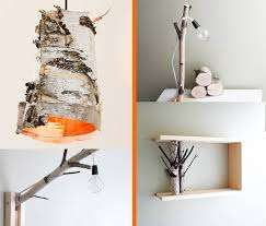 white birch forest wall art shelf