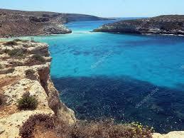 Zee Van Het Eiland Lampedusa In Italië Stockfoto Chiccododifc