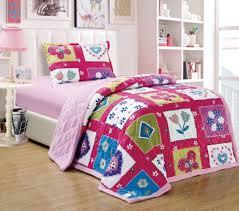 twin single size cotton damask pattern multi color bedding sets
