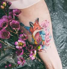 сделать татуировку Plotnikovasketch тату эскиз лиса на ключица в