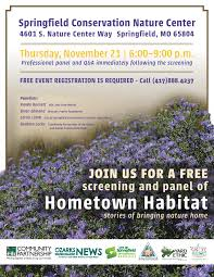 Vision Landscape Design Springfield Mo Free Screening Of Native Landscaping Documentary Hometown