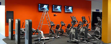 sound system for gym. a central audio matrix controls and distributes background music, pa paging from reception or the phone system anywhere in venue. sound for gym