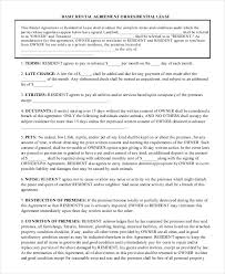 Simple Residential Lease Agreement Basic Lease Agreements Printable