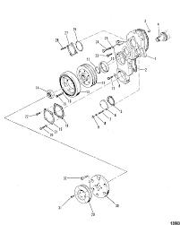Mercury mercruiser d183 turbo ac mcm mie vm 183 i l5 1990 1993 0b993002 thru 0d725151 front cover