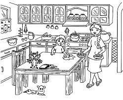 Small Picture Helping Mom Cleaning Table Kitchen Coloring Pages Download