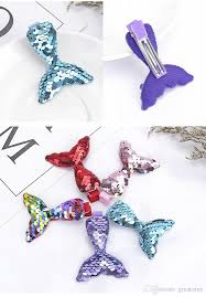 Design Mermaid Mermaid Sequin Hair Clips 2019 New Design Children Sequined Hairclips Kids Girls Cute Hair Accessories 5 Styles Offer Choose Hair Accessories Clips