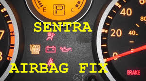 2008 Nissan Sentra Reset Tire Pressure Light Nissan Sentra Airbag Light Fix No Tools Required