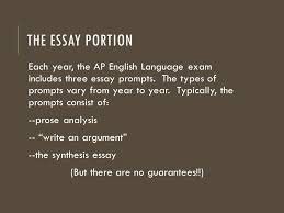 ap english language and composition ppt  the essay portion