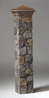 Decorative 4x4 Post Wraps Deckorators Stone Post Covers Deckexpressions