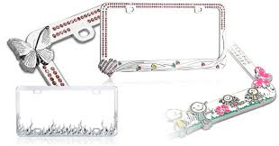 decorative license plate frames