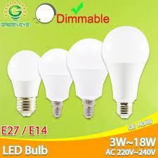 ซอทไหน Led Lamp E27 E14 Dimmable Led Bulb Ac 220v 240v Real 3w