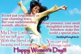 Greetings-on-happy-womens-day | HealthyThoughts - The Mind is ...