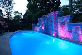 swimming pool lighting design. Exquisite Decoration Pool Lighting Adorable Landscape Amp Fiber Optic Lights Design Installation NJ Swimming