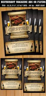 The Flyer Ads Restaurant Bar Magazine Ads Or Flyers Template On Behance