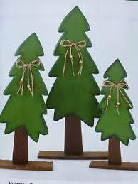 Details Zu Holz Deko Tanne Weihnachten Set Baum Dekoration Fensterdeko Tischdeko Advent