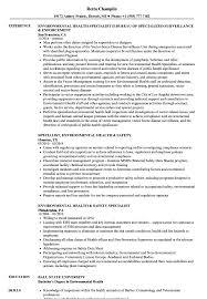 Environmental Health Specialist Sample Resume Environmental Health Specialist Resume Samples Velvet Jobs 9