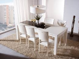 new white extending dining table and chairs impressive design inside room set small chair compact pedestal kitchen sets round tables modern black piece grey