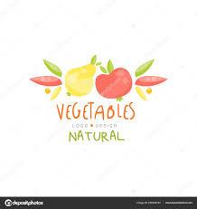 Fruit And Vegetable Logo Design Natural Vegetables Logo Design Healthy Kids Menu Colorful