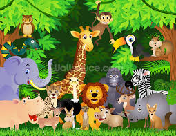 jungle wallpaper for kids. Contemporary For Animals In The Jungle Wallpaper Mural Throughout Wallpaper For Kids D