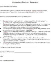Consulting Agreement Sample In Word - Solarfm.tk