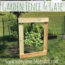 diy garden fence gate