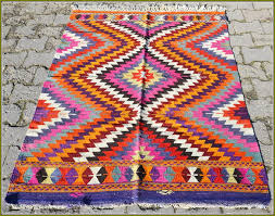 flat woven cotton rug