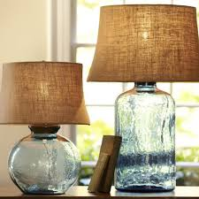 glass table lamps pottery barn