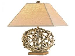 sophisticated beach home style coastal designer lamps distressed wood c