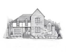 architectural drawings of houses. Pencil Drawings Houses 11 X 14 House Sketch Architectural Karenlibecap On Etsy Of
