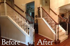 replace stair railing. Replacing Stair Spindles Banister With Regard To Railing Replace Iron O