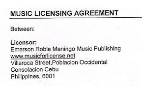 Indemnification Clauses And Music Licensing Agreement Example