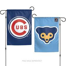 com stockdale chicago cubs retro wc garden flag premium 2 sided outdoor house banner baseball sports outdoors